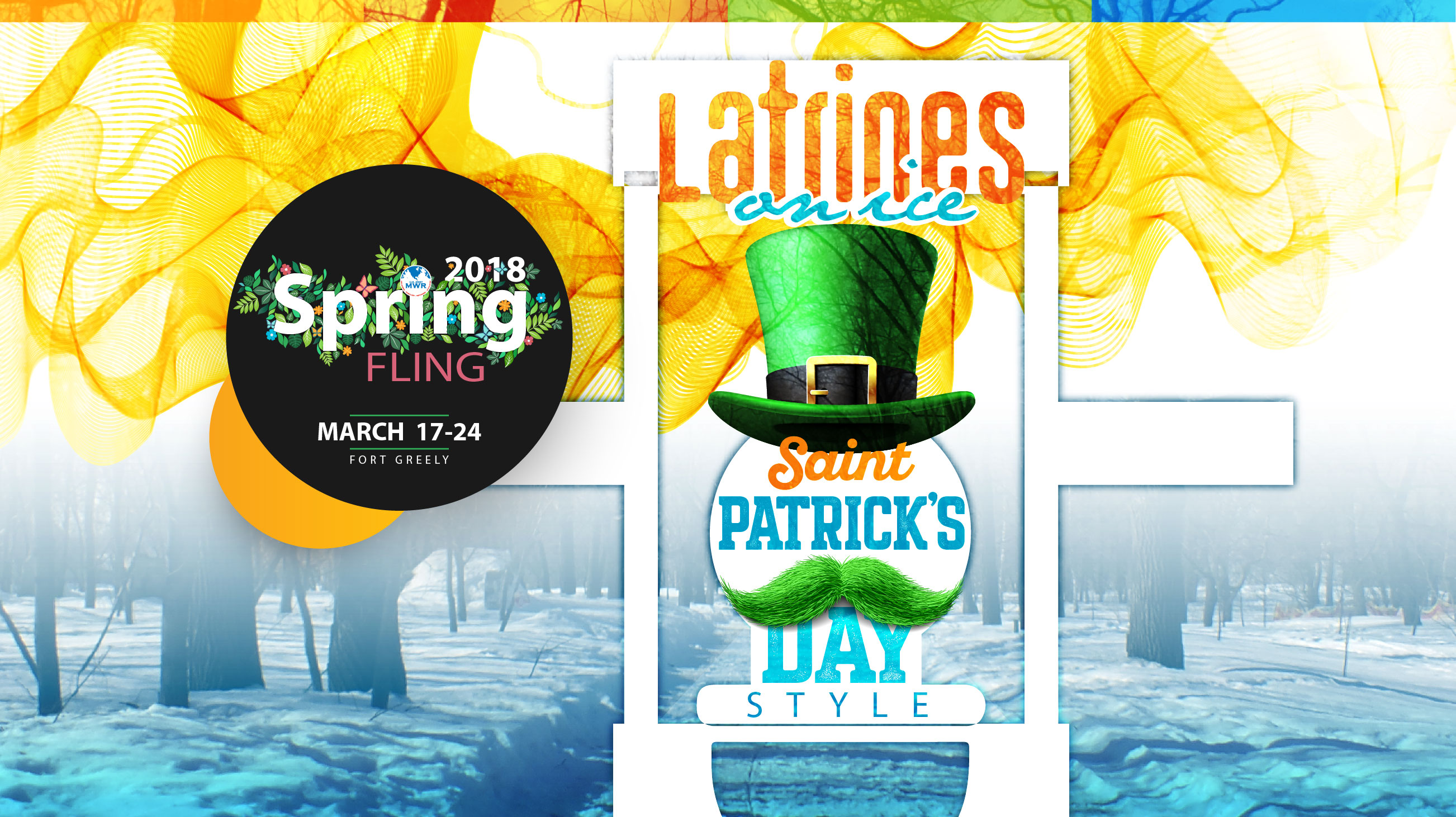Latrines on Ice - St. Patrick's Day Style!